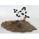 Black Agate Tree of Life 15 Chip  Double Wire