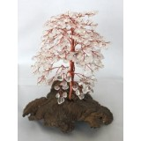 Clear Quartz Tree of Life with Copper wire 300 Chip