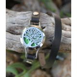 Aromatherapy Diffuser Bracelet Leatherlook Tree of Life 1